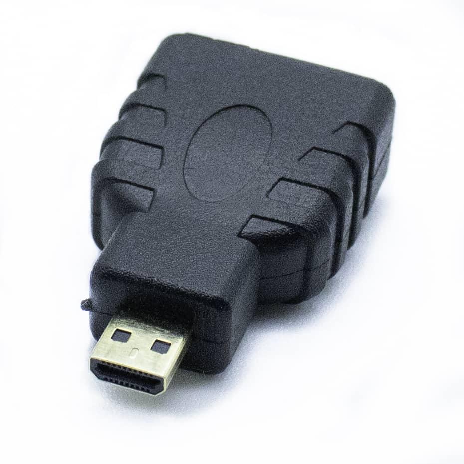 Adaptador HDMI a Micro HDMI D  Negro