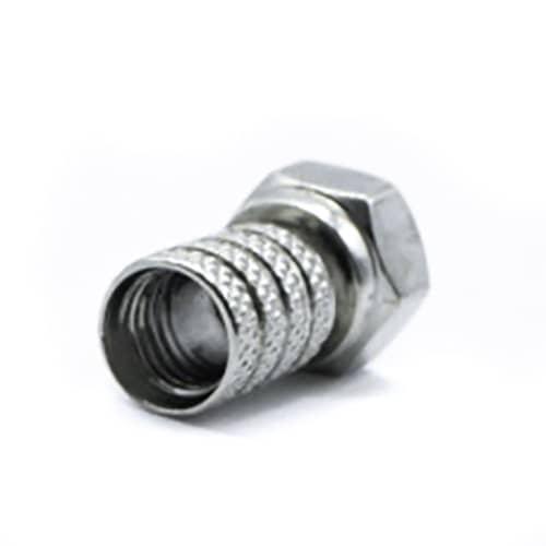 Conector F rosca 6.4mm  Gris