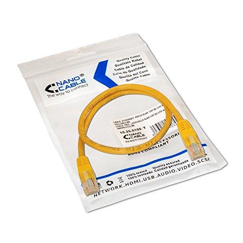 Cable de red UTP CAT5E 0.50 M Amarillo