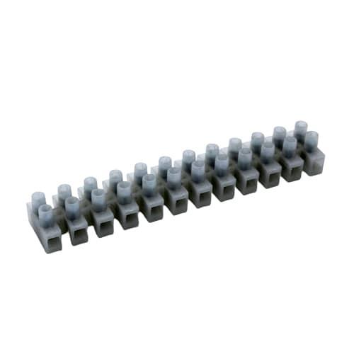 Regleta de conexion de cables electricos de seccion 6mm  Blanco 5A
