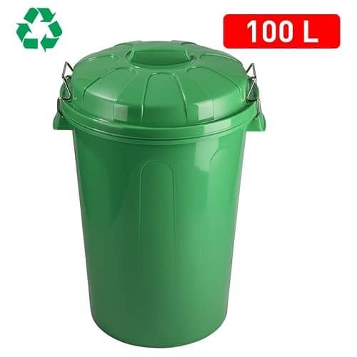 CABLEPELADO Cubo Basura plastico Comunidad con Tapa 21 litros Gris