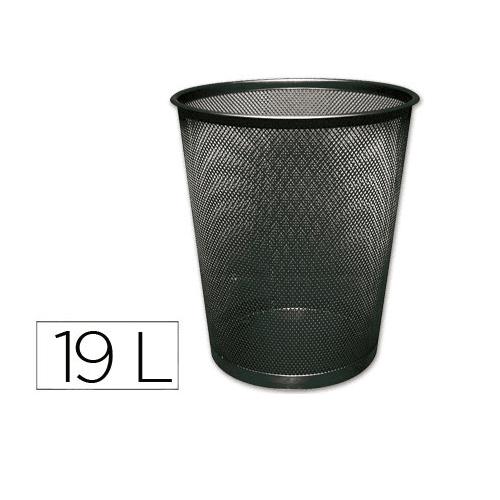 CABLEPELADO Papelera Q-Connect plastico Malla 19 litros Negro