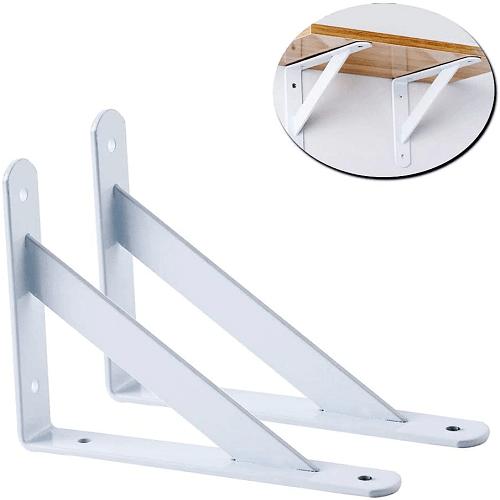CABLEPELADO Escuadra para estanteria metalica 350x300 mm Blanco