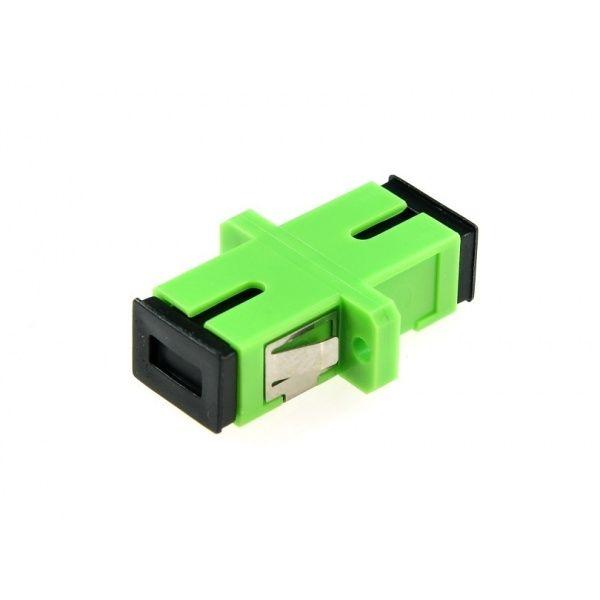 Acoplador De Fibra Optica Sc Apc Monomodo Simplex Verde