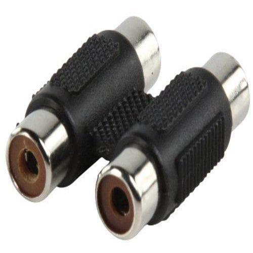 Adaptador audio estereo 2xRCA/H-2xRCA/H  Negro
