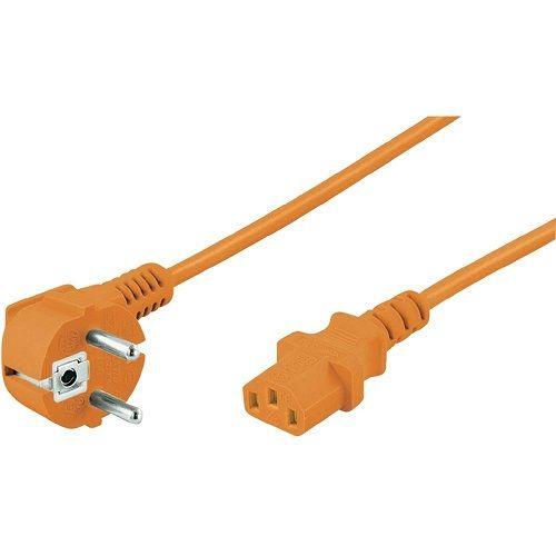 Cable de alimentacion CPU CEE7 macho - C13 hembra 2 M Naranja