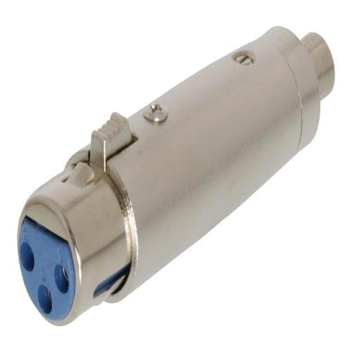 Adaptador XLR mono 3 pin hembra - rca hembra  Gris