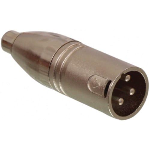 Adaptador XLR mono 3 pin macho - RCA hembra  Gris