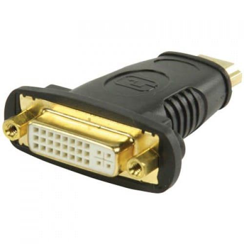 Adaptador DVI-D 24+5 hembra a HDMI macho  Negro