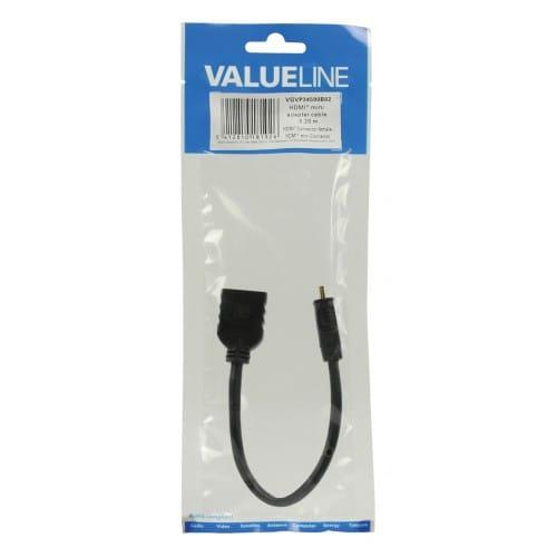Cable HDMI de alta velocidad con mini conector HDMI Ethernet 0.20 M Ne