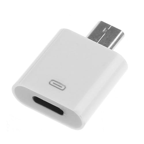 Adaptador Lightning a USB Micro B  Blanco