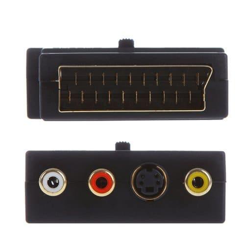 Adaptador SCART AV conmutable  Negro