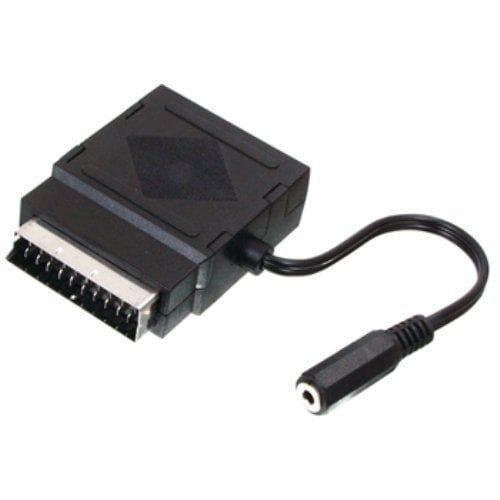 Adaptador SCART con jack audio estereo  Negro