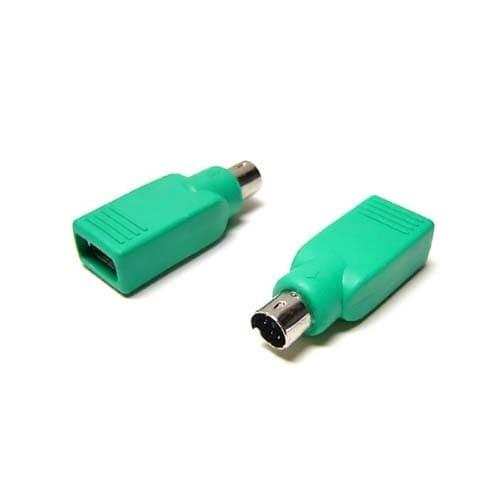 Adaptador USB  a PS2 para raton  Verde