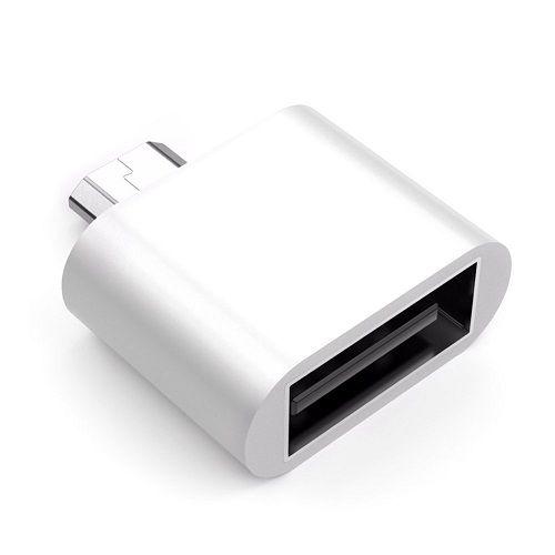 Adaptador USB tipo A hembra a micro USB macho  Blanco