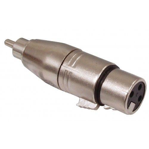 Adaptador XLR mono 3 pin hembra - RCA macho  Gris