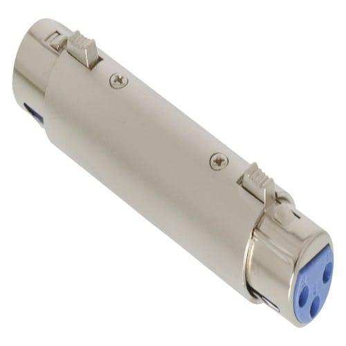 Adaptador XLR mono 3 pin hembra a XLR 3 pin hembra  Gris