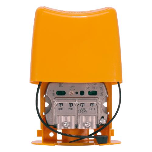 Amplificador mastil nanokom 1e uhf 30 dB  Amarillo
