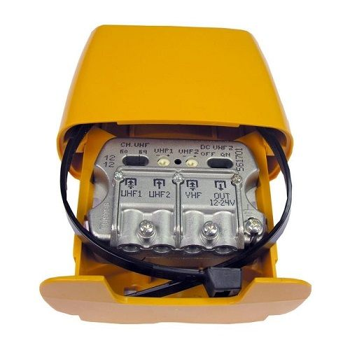 Amplificador mastil nanokom 3e uhf 27 dB  Amarillo