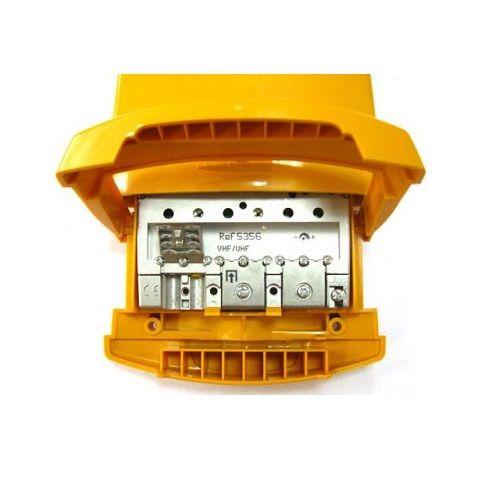 Amplificador mastil nanokom 1e uhf 41 dB  Amarillo