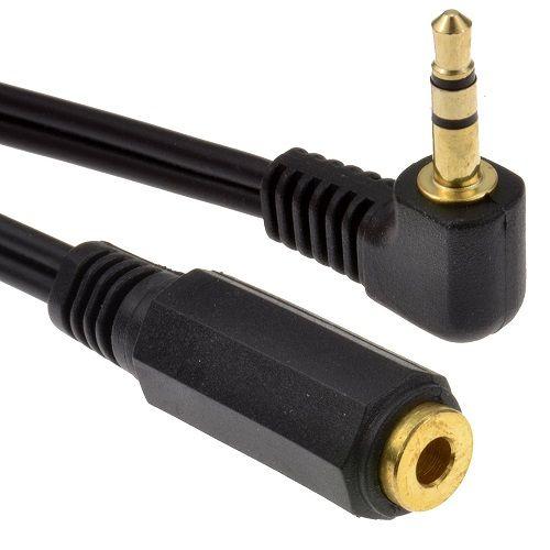 Cablepelado Adaptador Audio Estereo Jack 3.5 mm acodado Dorado