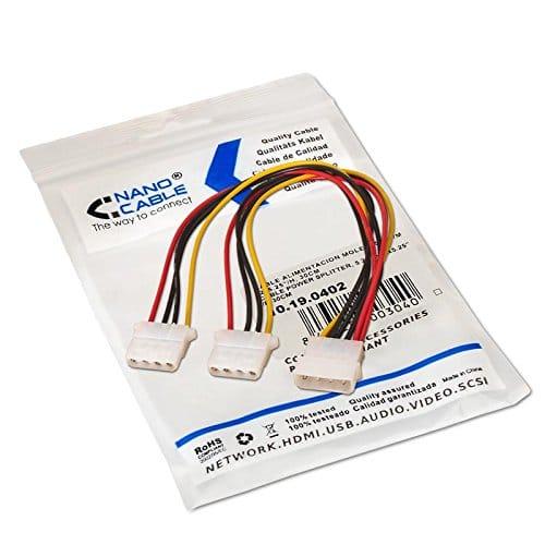 Cable de alimentacion interna molex 5.25 0.30 M Negro