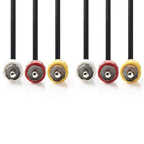 Cable AV 3x RCA macho 1.5 M Negro