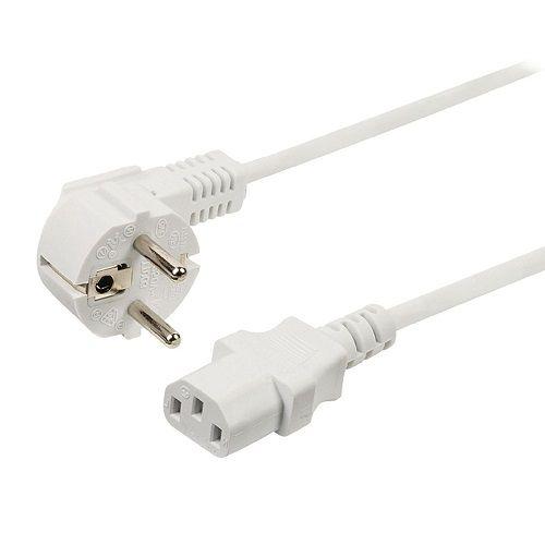 Cable de alimentacion CPU CEE7/M-C13/H 2 M Blanco