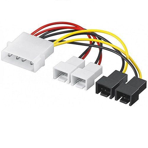 Cable de alimentacion interna molex 5.25 a 4x 2 pin 0.15 M Multicolor