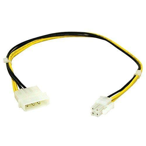 Cable de alimentación interna P4 macho – Molex macho 0.15 M Negro