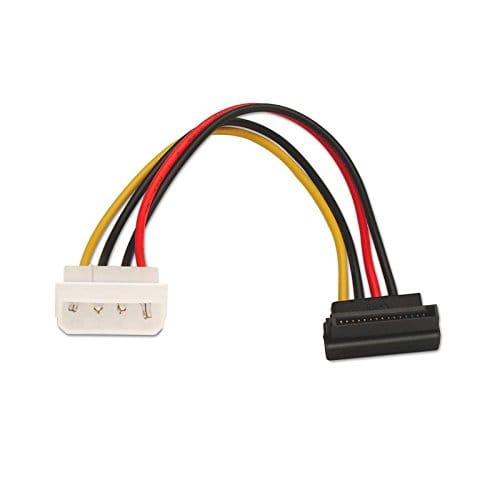 Cable de alimentación SATA acodado de 5.25 0.15 M Negro