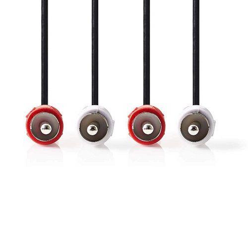 Cable de audio estereo 2x RCA macho a 2x RCA macho 5 M Negro