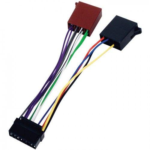 Cable de audio ISO compatible con JVC 0.15 M Negro