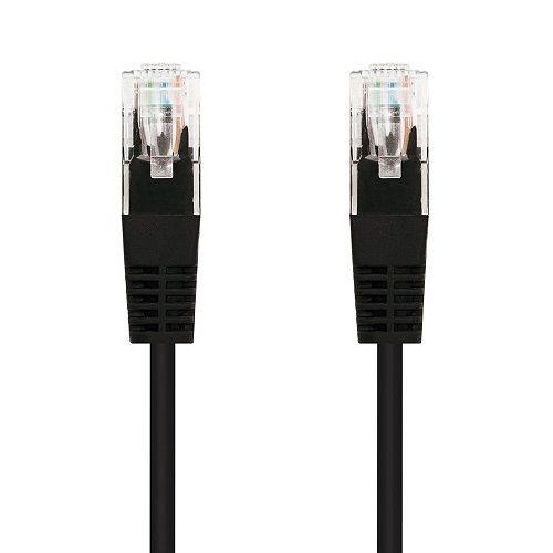 Cable de red UTP CAT5E 0.50 M Negro