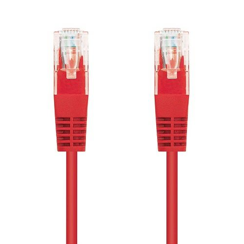 Cable de red UTP CAT5E 1 M Rojo