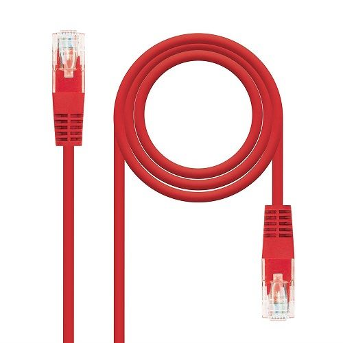 Cable de red UTP CAT5E 0.50 M Rojo
