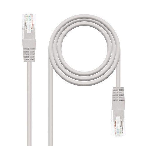 Cable de red UTP CAT5E 0.30 M Gris