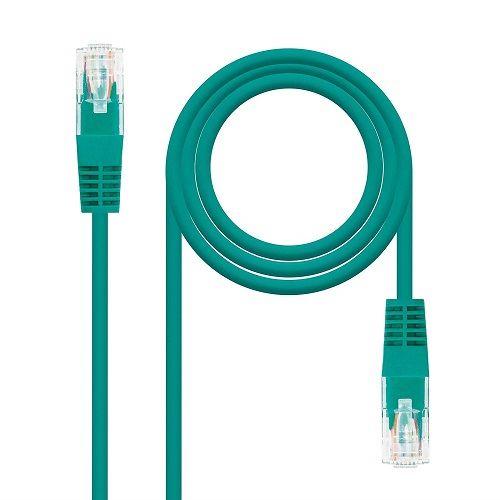 Cable de red UTP CAT5E 0.50 M Verde