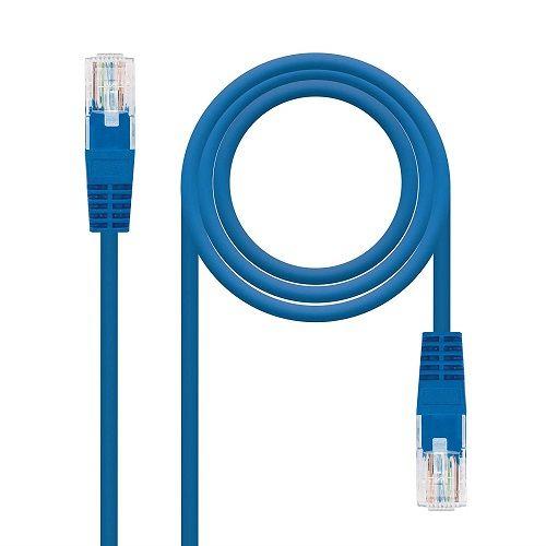 Cable de red UTP CAT5E 0.50 M Azul