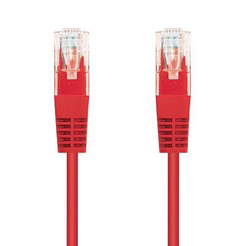 Cable de red UTP CAT6 0.50 M Rojo
