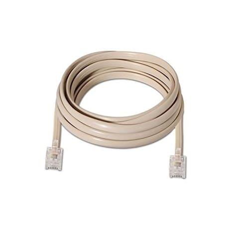 Cable de telefono RJ11 6P4C M-M 2 M Beige