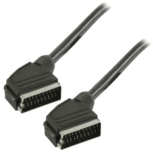 Cable euroconector-Scart  M-M 1.5 M Negro