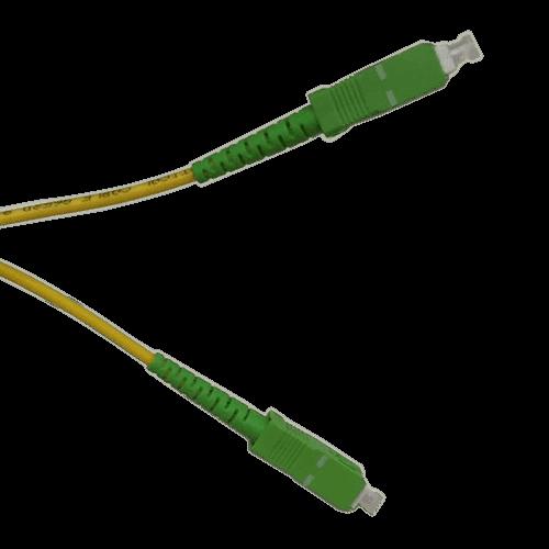 Acobonline Fiber /óptica Cable SC//APC a SC//APC monomodo simplex 9//125,Operadores Movistar Jazztel Vodafone Orange Amena Masmovil Yoigo Blanco 1M