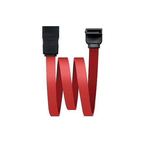 Cable sata acodado 0.50 M Rojo