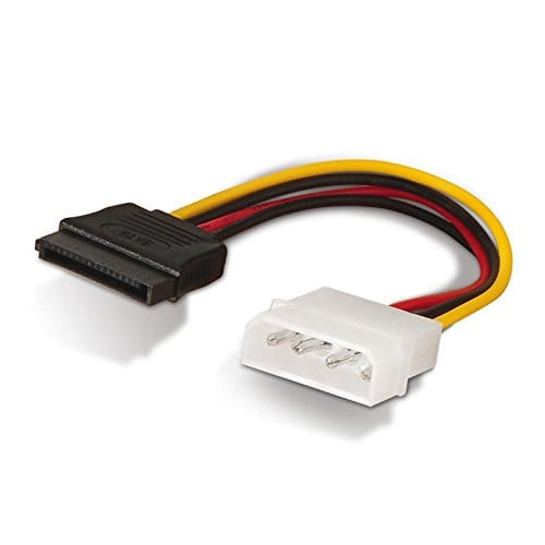 Cable de alimentacion interna Molex 5.25 a Sata 0.15 M Negro