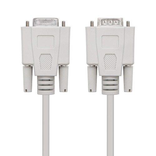 Cable serie null modem DB9 hembra -DB9 hembra 1.8 M Beige