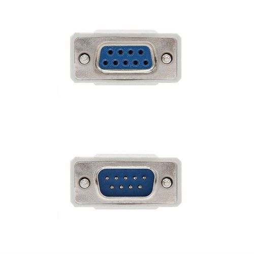 Cable serie null modem DB9 hembra -DB9 macho 3 M Beige