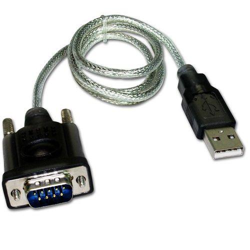 Cable serie RS232 macho a USB macho 1.5 M Transparente