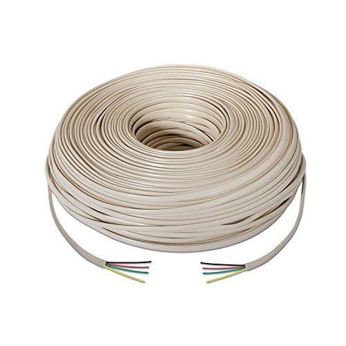 Cable telefonico redondo 4 hilos 100 M Beige