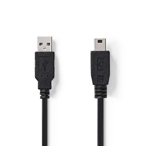Cable USB 2.0 A/M-mini USB 5pin/M 1.8 M Negro